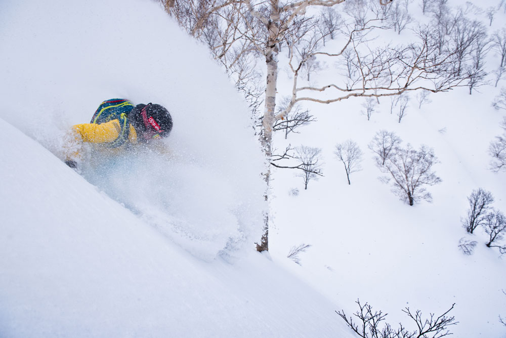 Tess Golling makes the most of the cold smoke.
