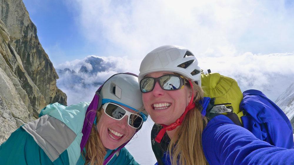 Climbin' smiles! Photo: Kim Hall