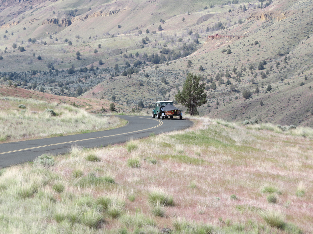 On the way to the National Parks of Wyoming