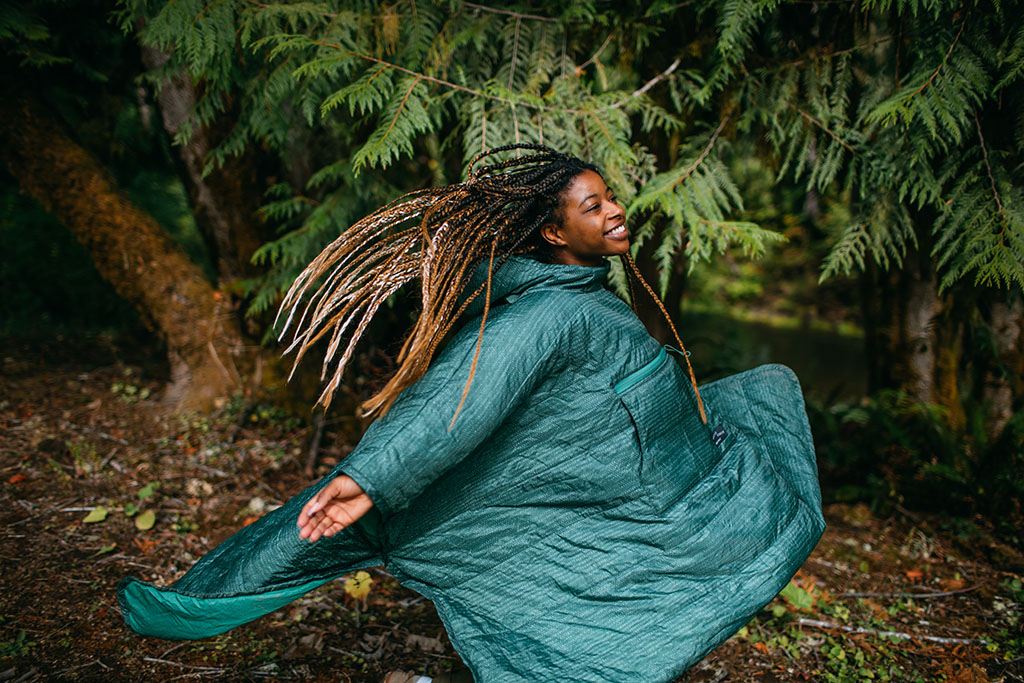 layering with camping poncho
