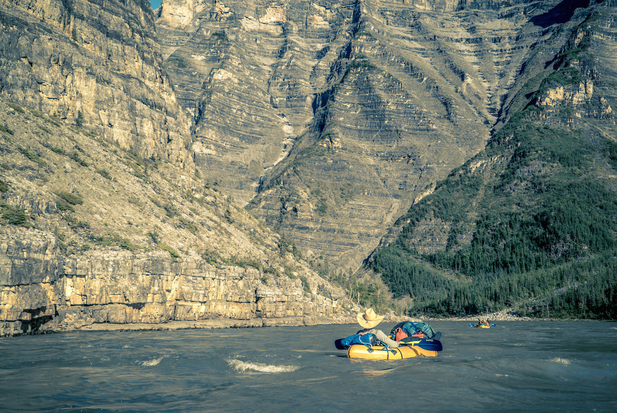 The South Nahanni grew more majestic as we paddled towards its mouth.
