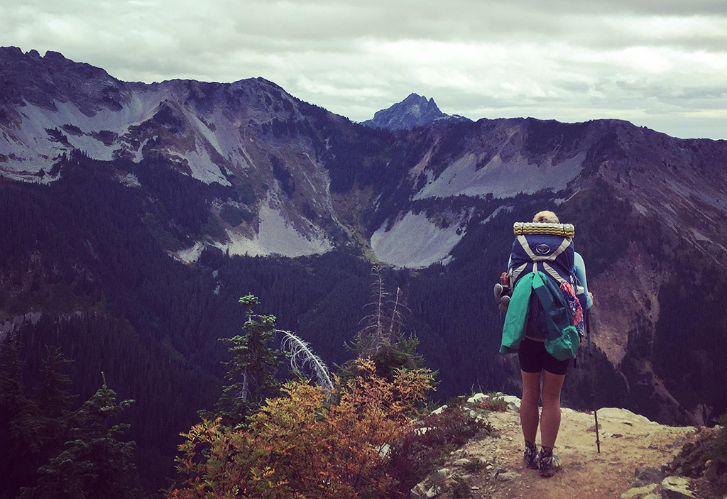 thru hiking with gear