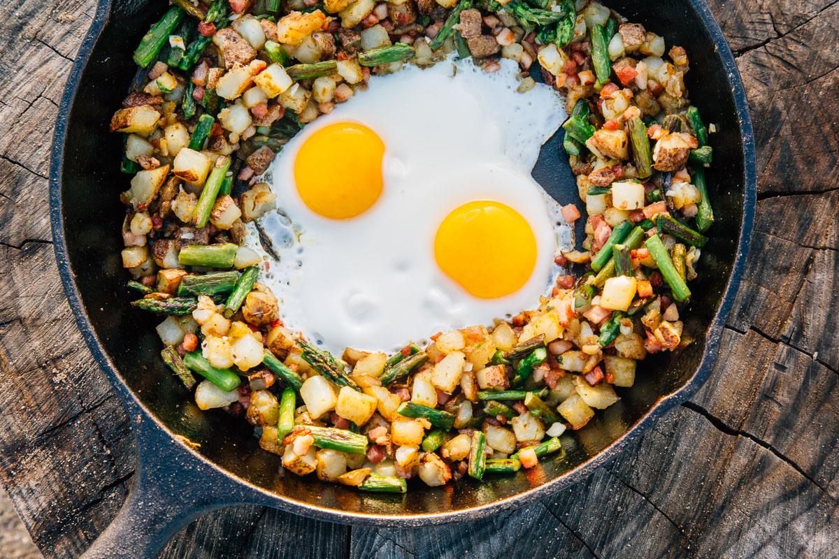 skillet hash spring camping recipe