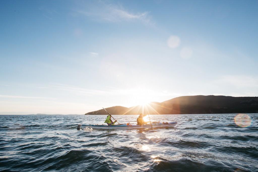 kayak camping trip