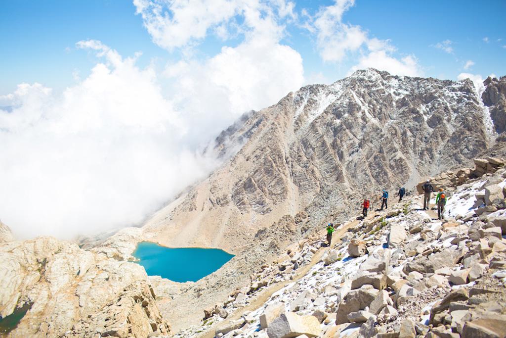 hidden lake on hike