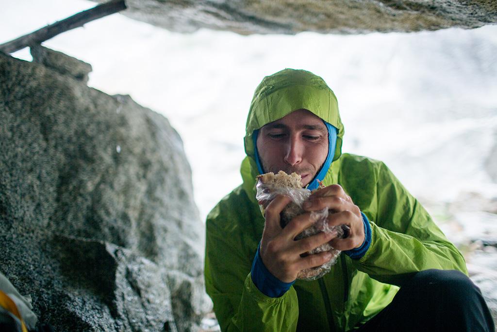 eating on climbing trip