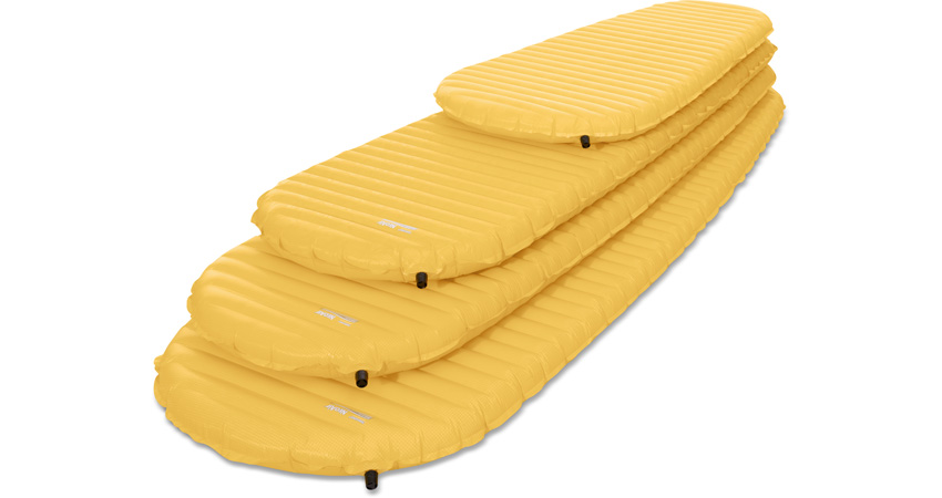 All sizes of the NeoAir XLite Mattress: Large, Regular, Women's Regular and Small.