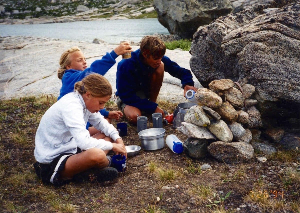 backpacking trip with kids