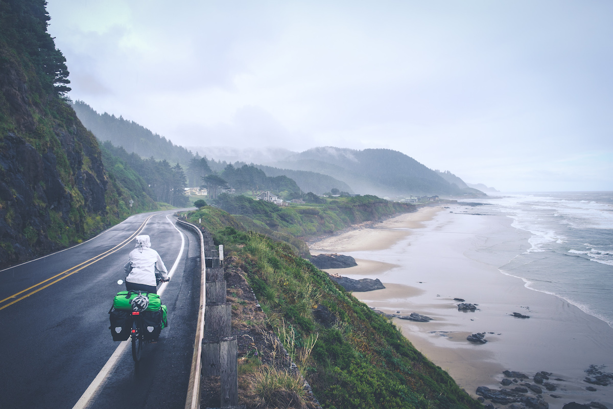 Rain and mist along the Oregon coast. Waking up with fog is daily business here.