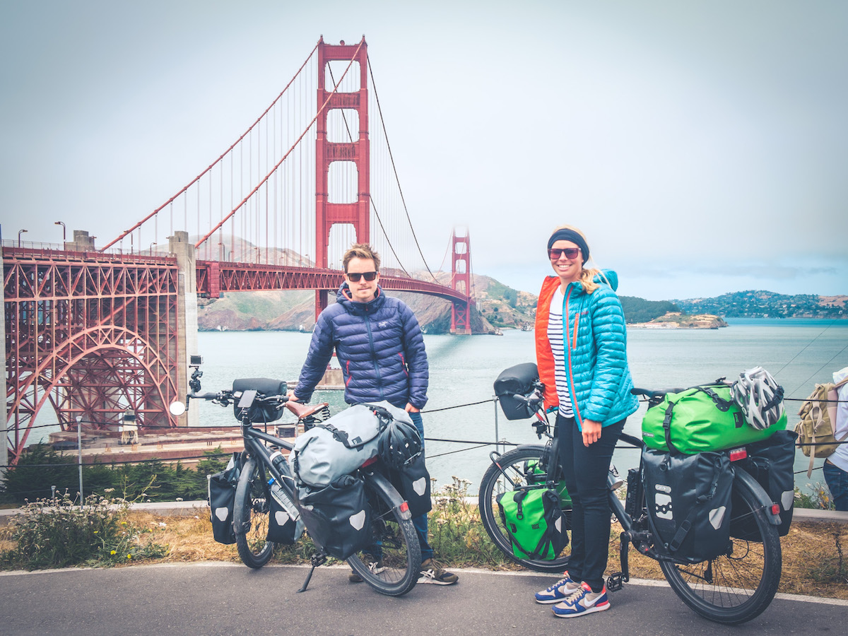 Unforgettable: Crossing the Golden Gate Bridge after nearly 2,000 miles.