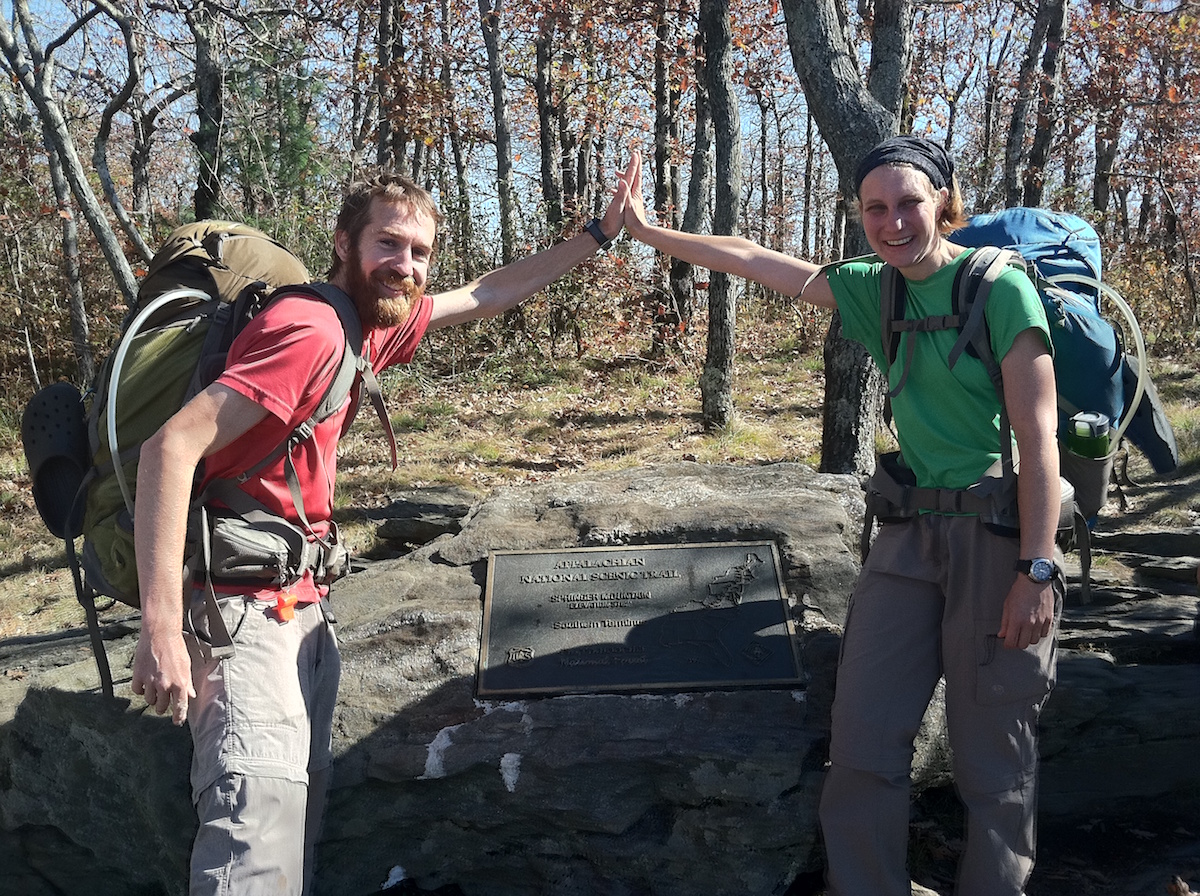 We made it! 2,181 miles southbound on the Appalachian Trail in 2011.