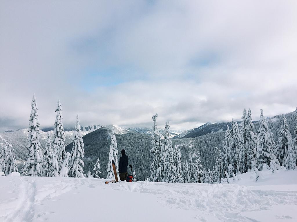 Winter adventure skiing mountain