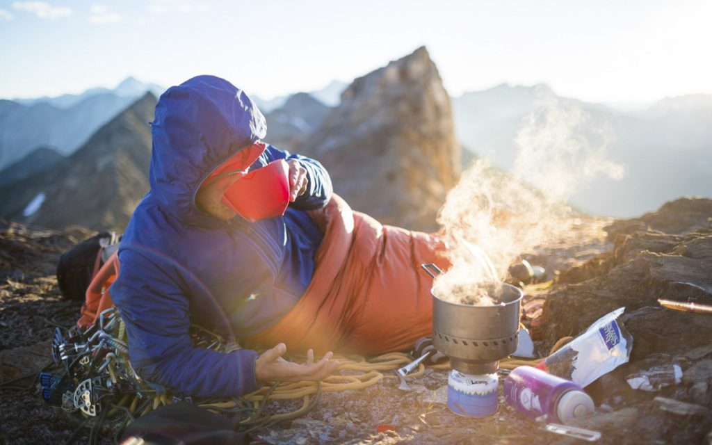 using backpacking stove to heat up meal