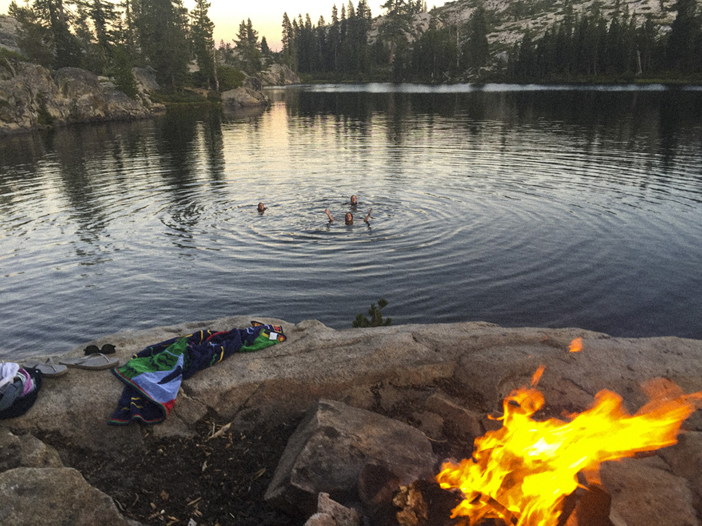 swimming in unsupported campgrounds