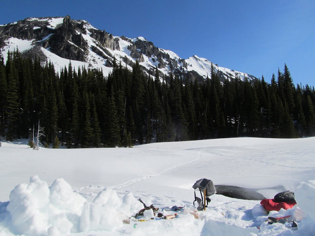 access to water while snow camping