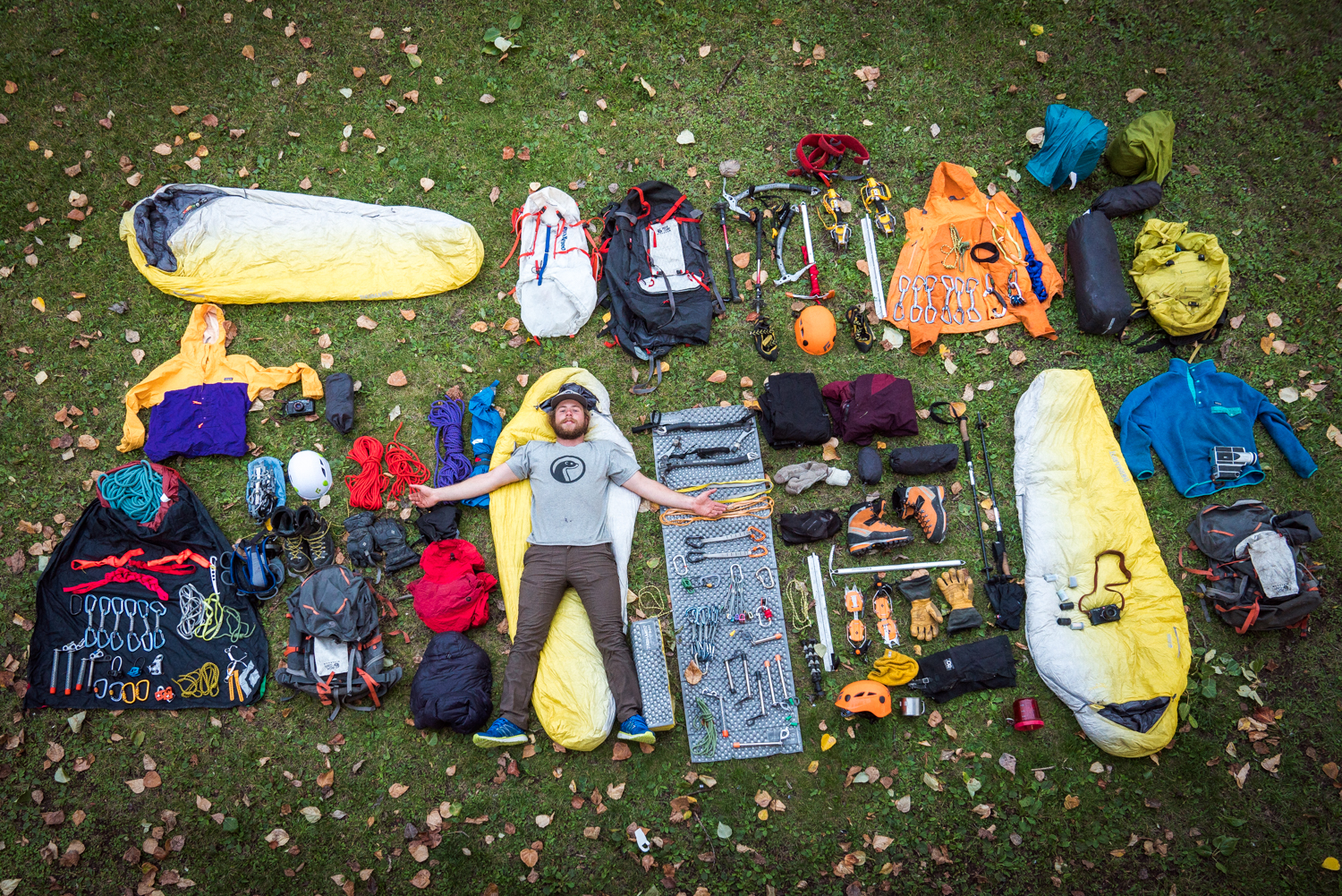 Packing Gear to climb Mount Robson