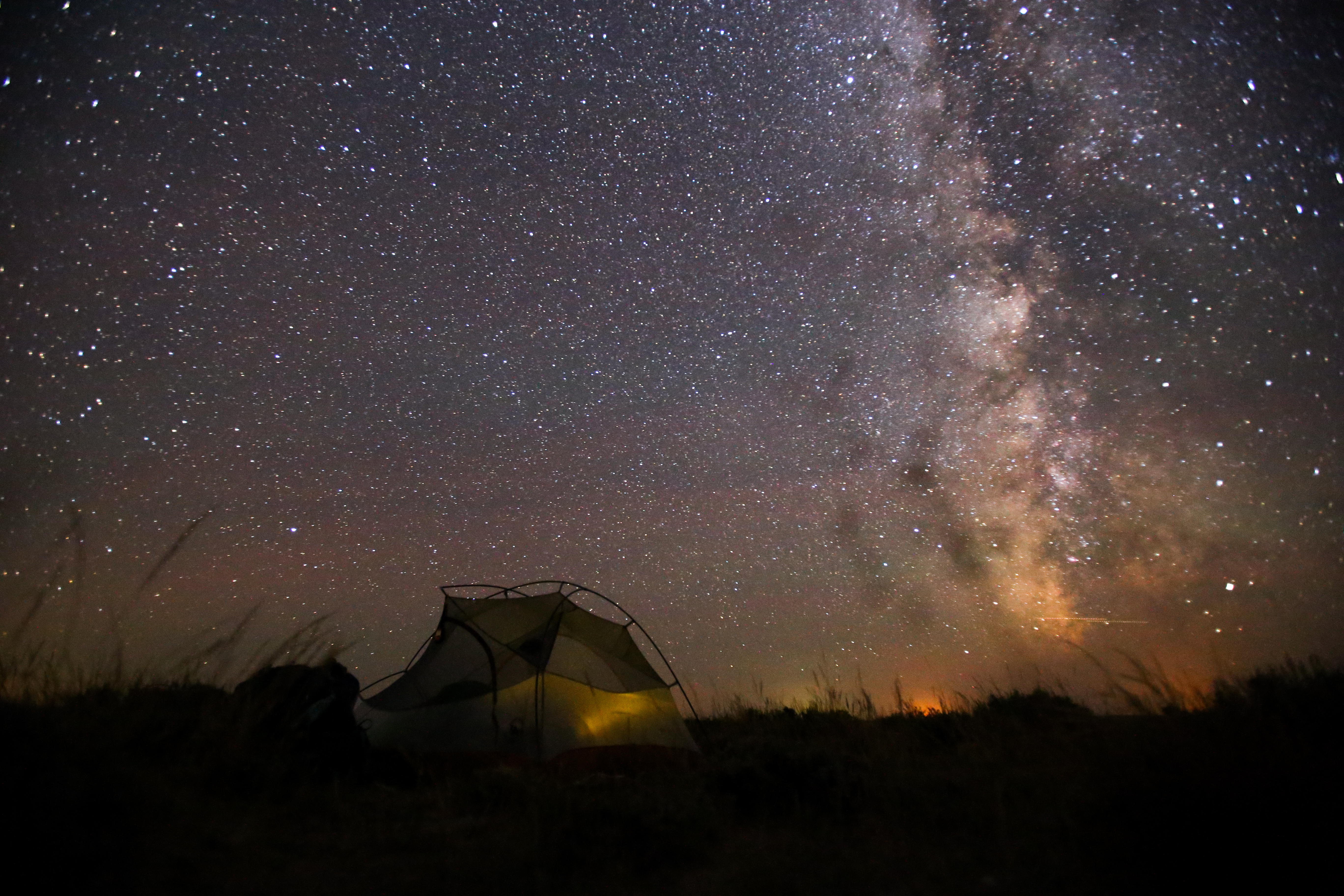 Stargazing at your transient camp home