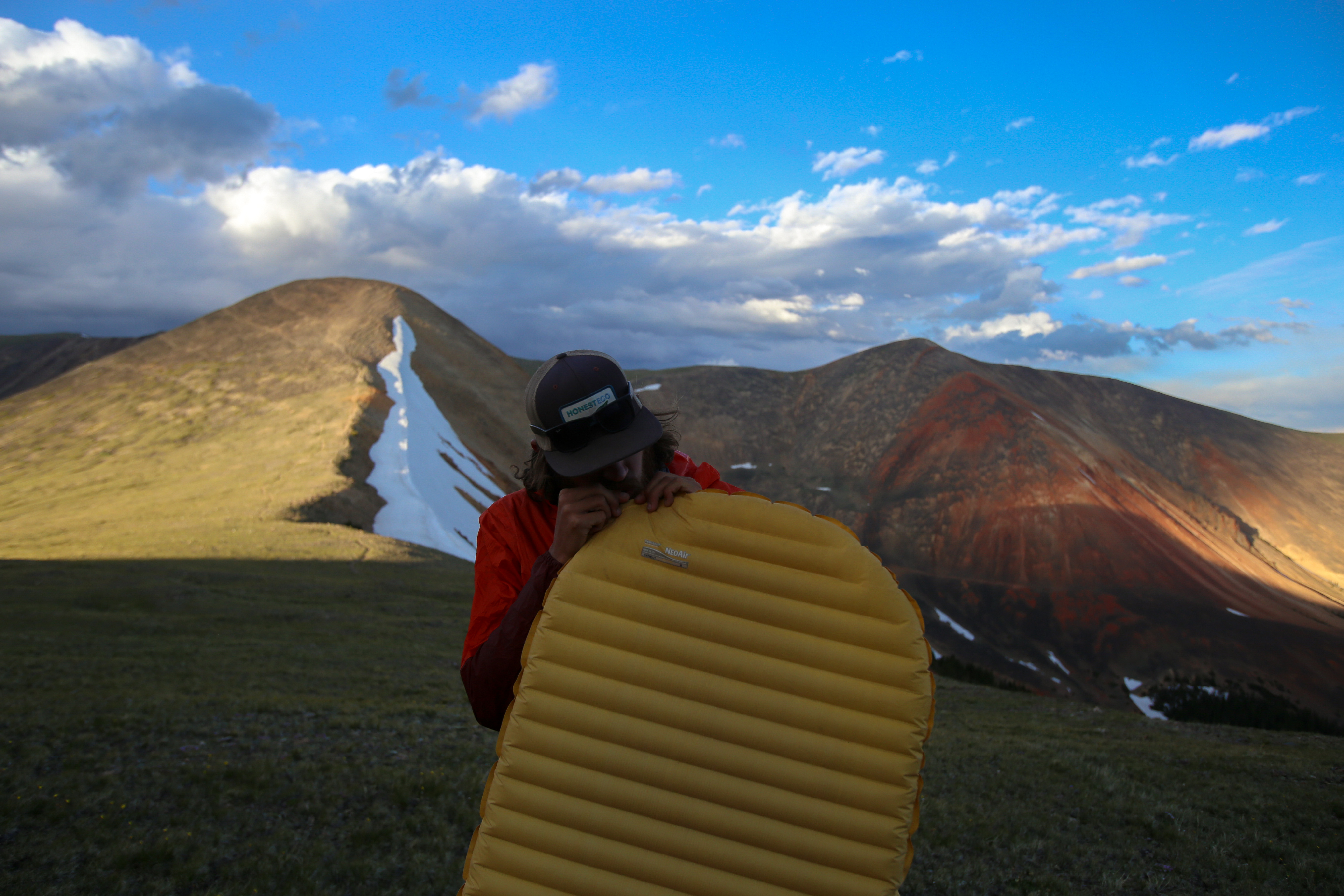 NeoAir XLite Sleeping Pad on the Continental Divide to set up camp home