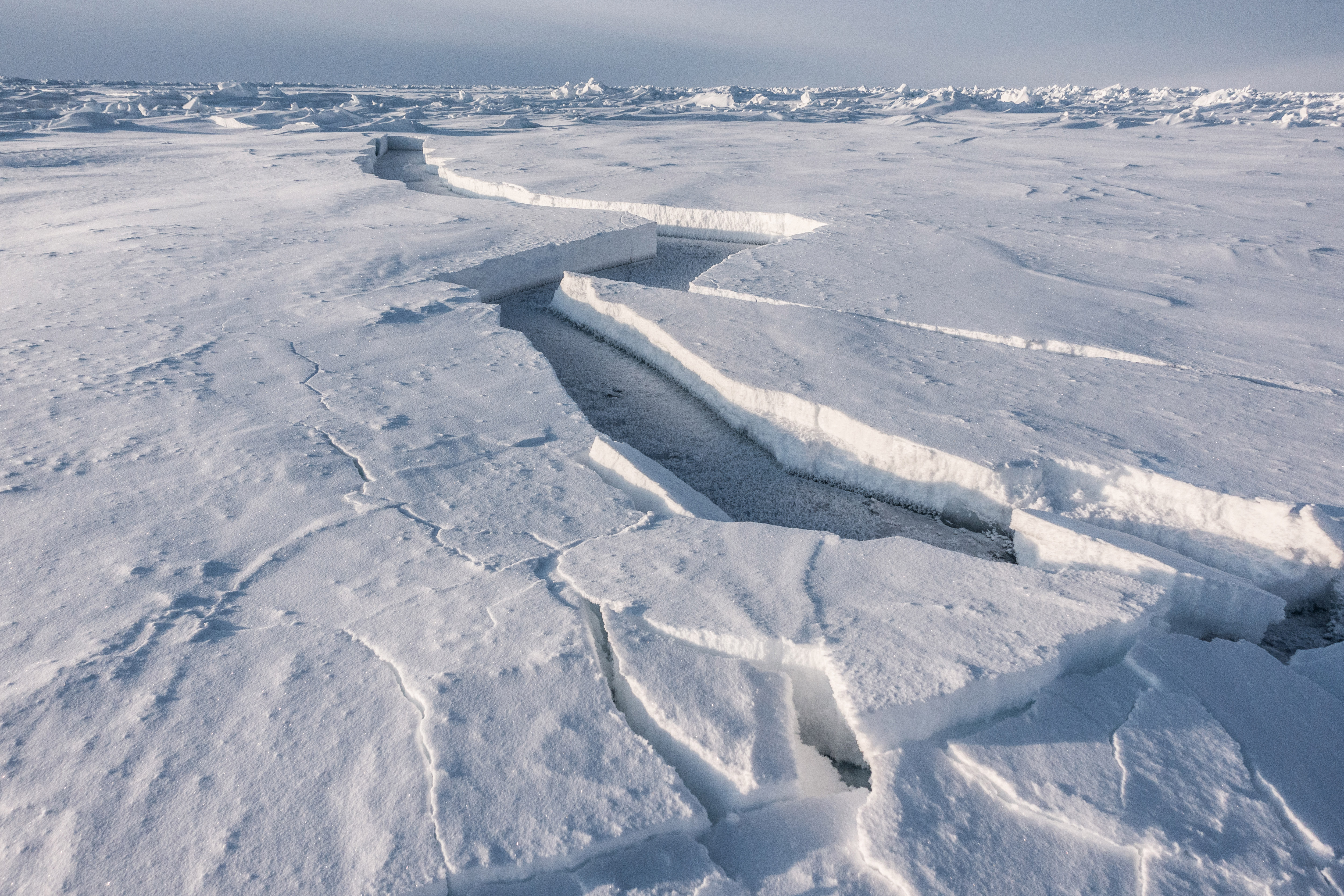 Polar expeditions arctic pressure ice cracks