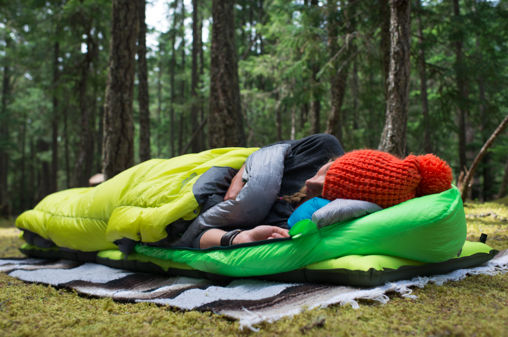 Science of layering, sleep system at camp