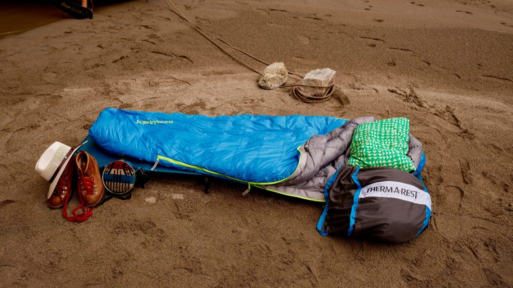 Thermarest sleeping bag sleeping pad and pillow