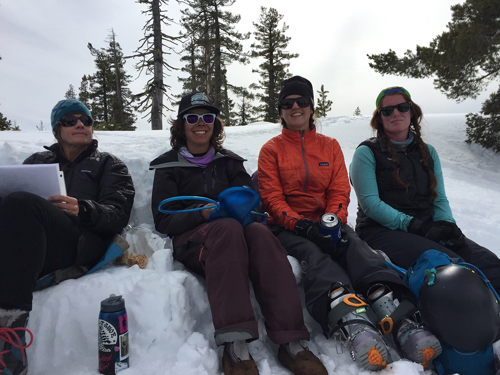 hanging out at winter basecamp
