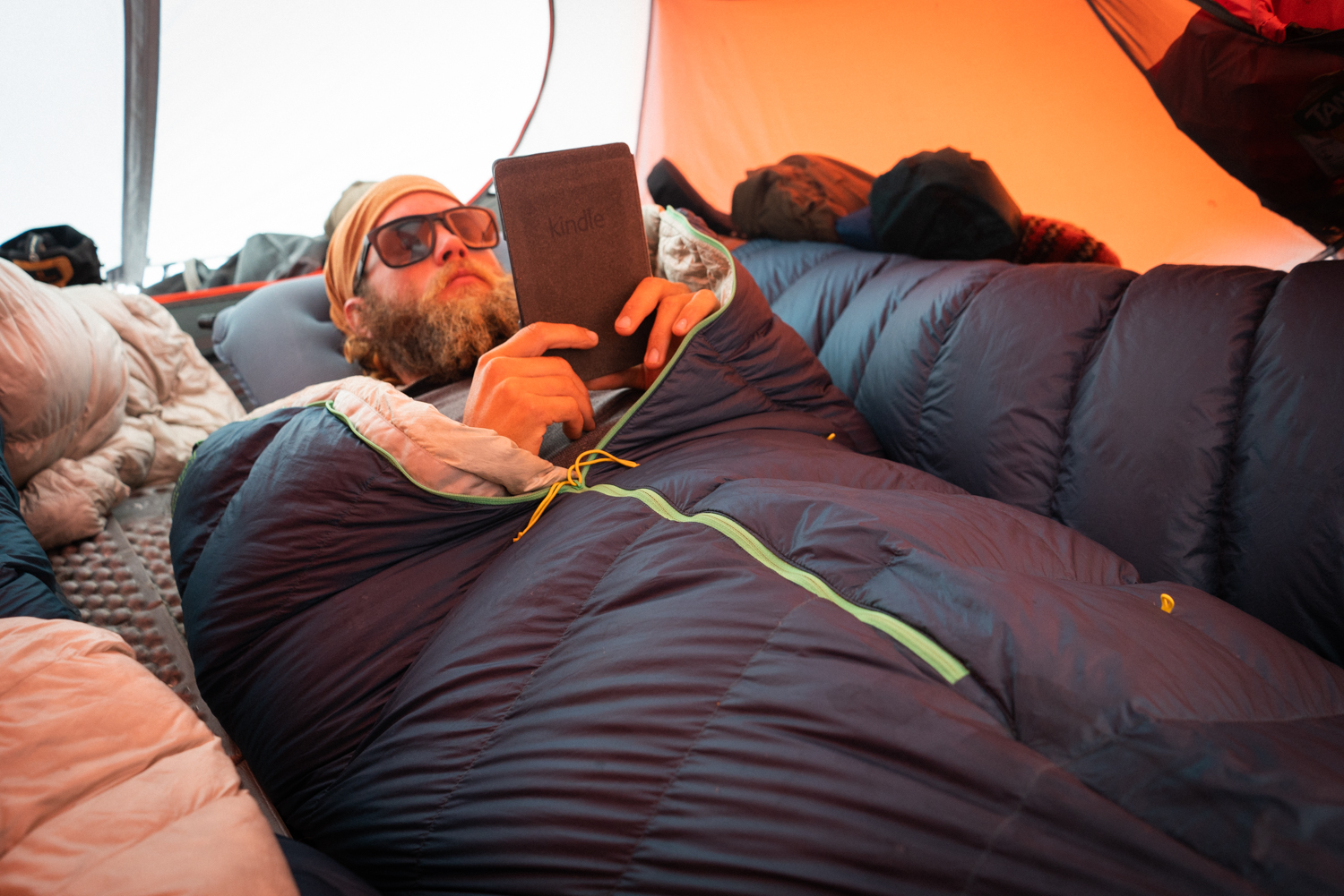 ultralight camping pillow and sleeping bag