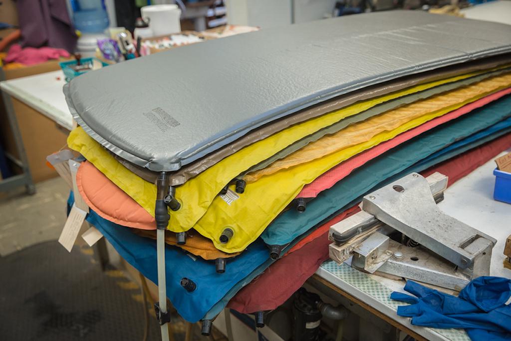 older sleeping pads in thermarest repair shop