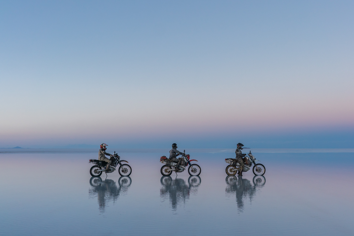 Salt Flats on a Motorcycle