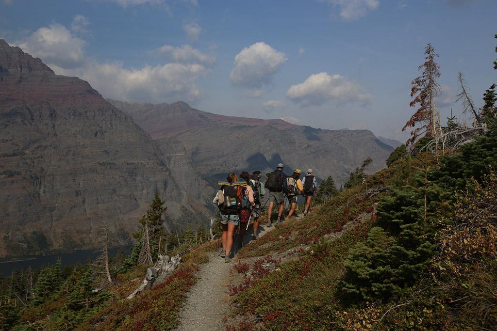 thru hiking with group