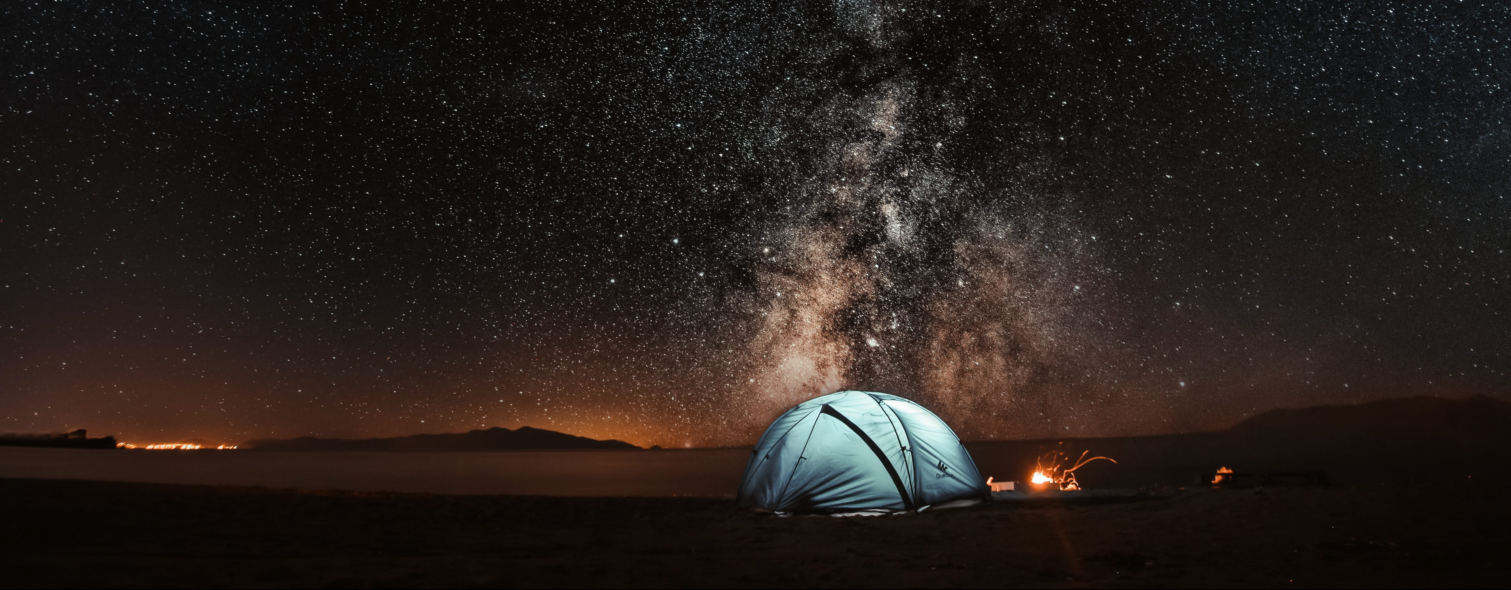 sleeping outside under the stars