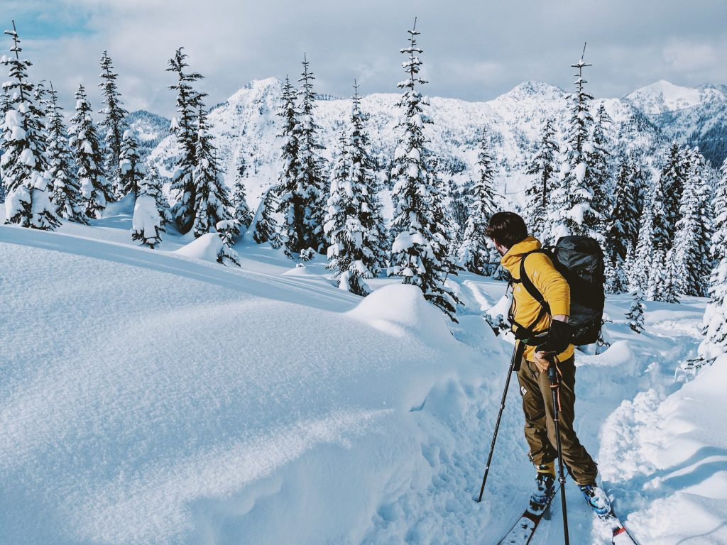 ski touring mountain trail