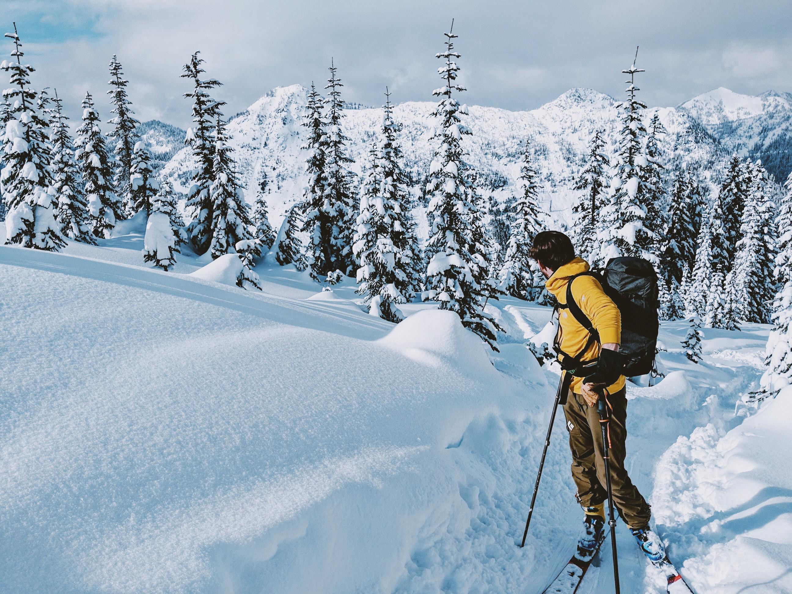 ski touring mountain trail