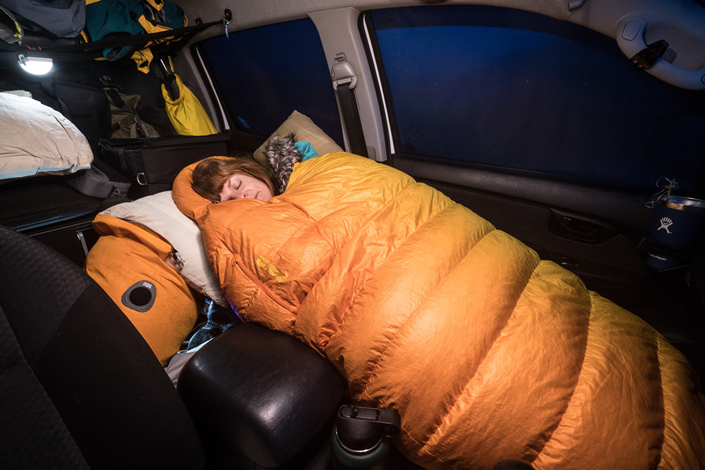 car camping with cold weather sleeping bag