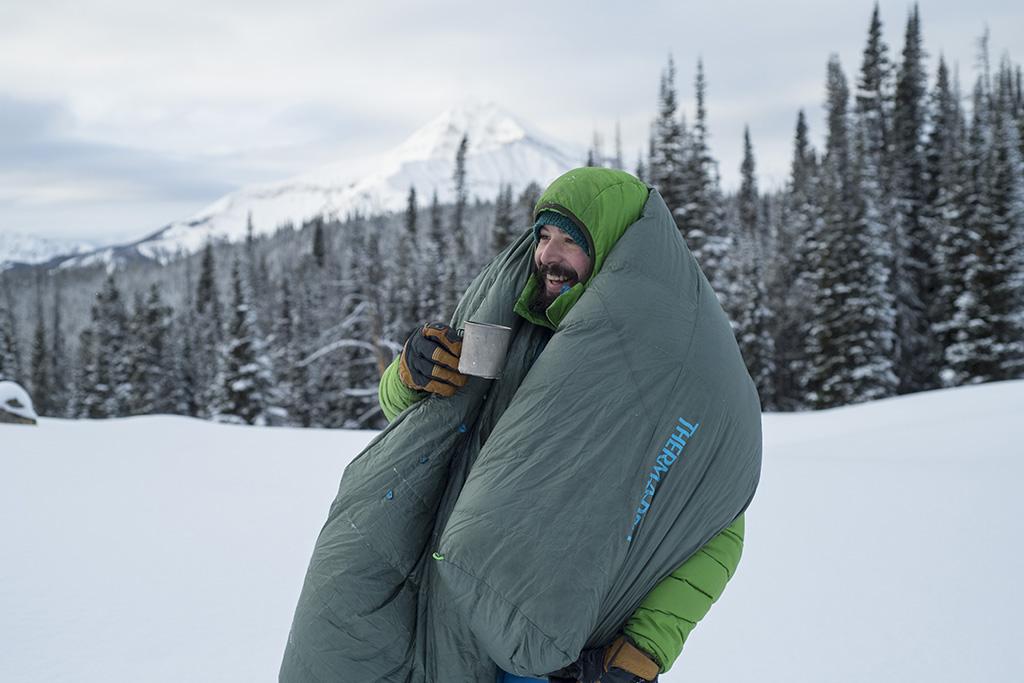 winter camping attitude