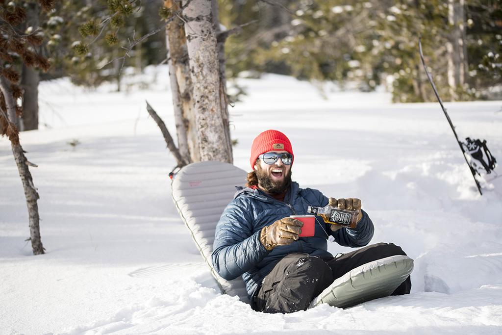 winter camping fun