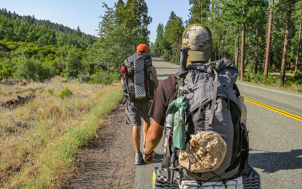 PCT Hikers With Therm-a-Rest Z Lites