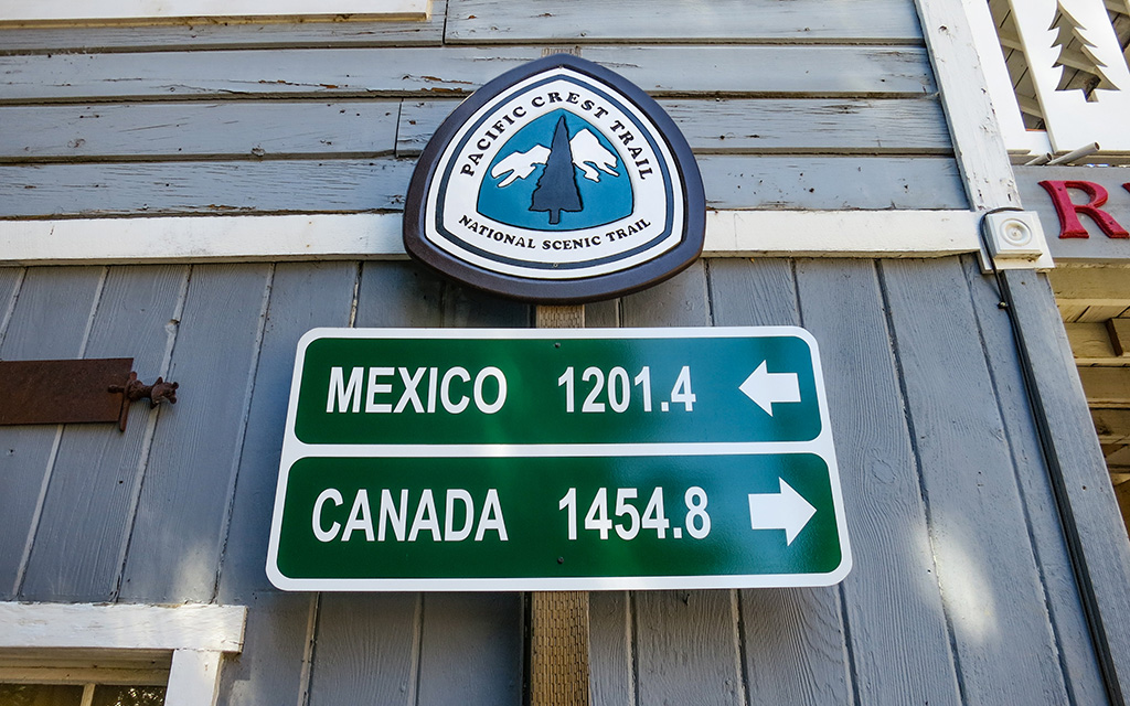 PCT Mexico-Canada Distance Sign