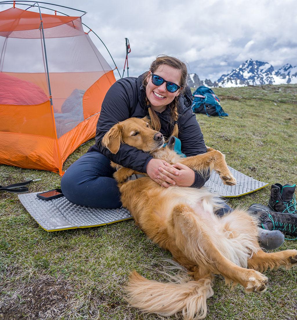 Sarina Clark and dog