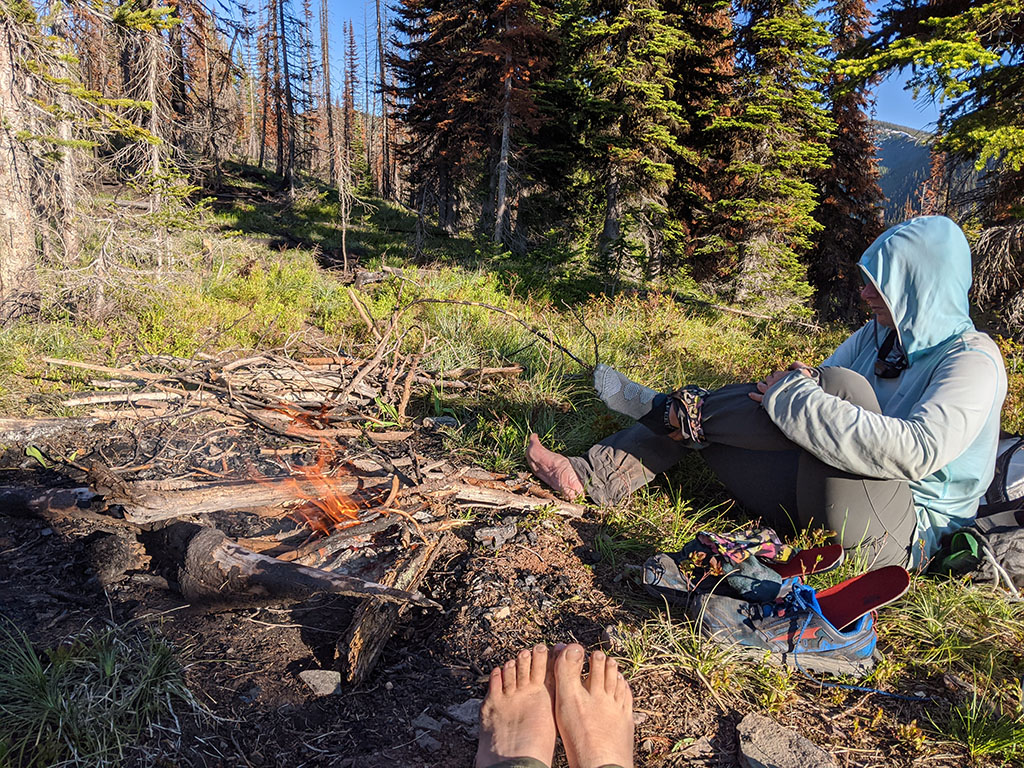 foot care around campfire
