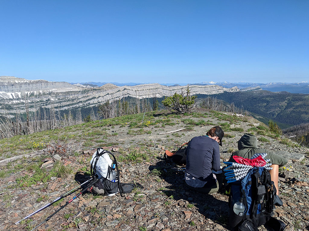 backpacking views