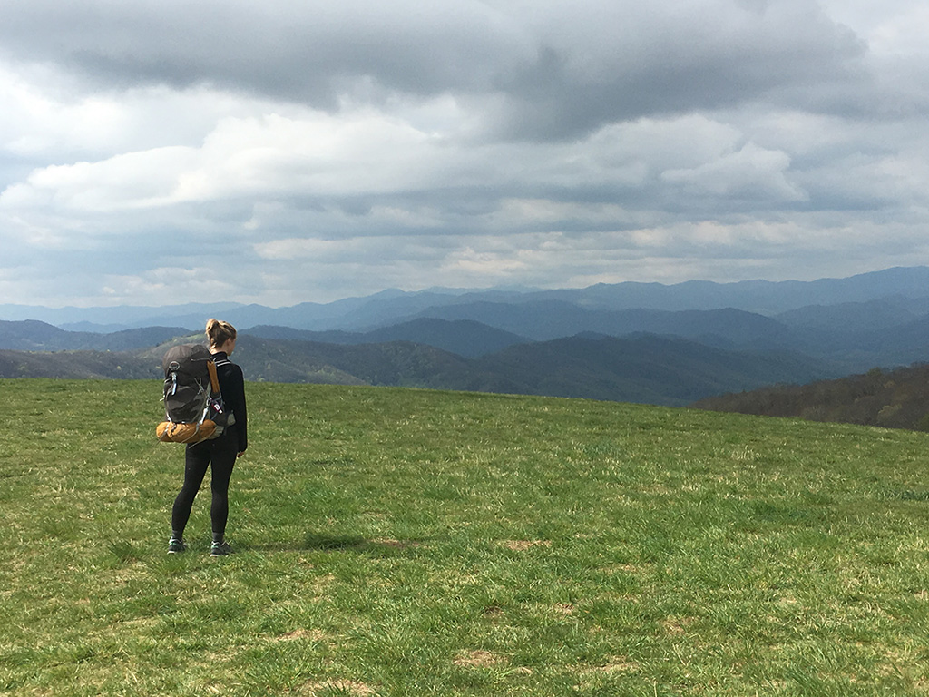 section hiking Max Patch