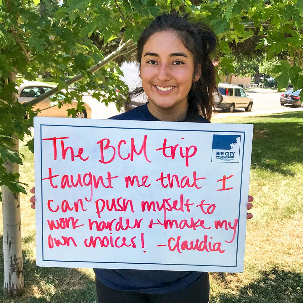 Big City Mountaineers testimonial