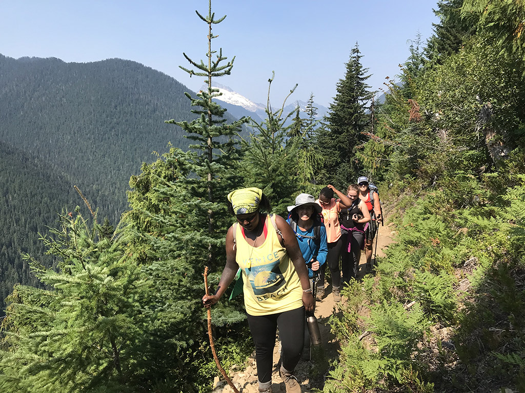 hiking with outdoor program for youth