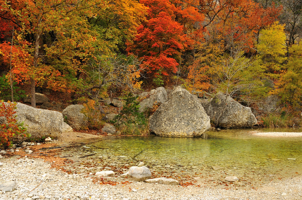 Fall camping in Lost Maples Texas
