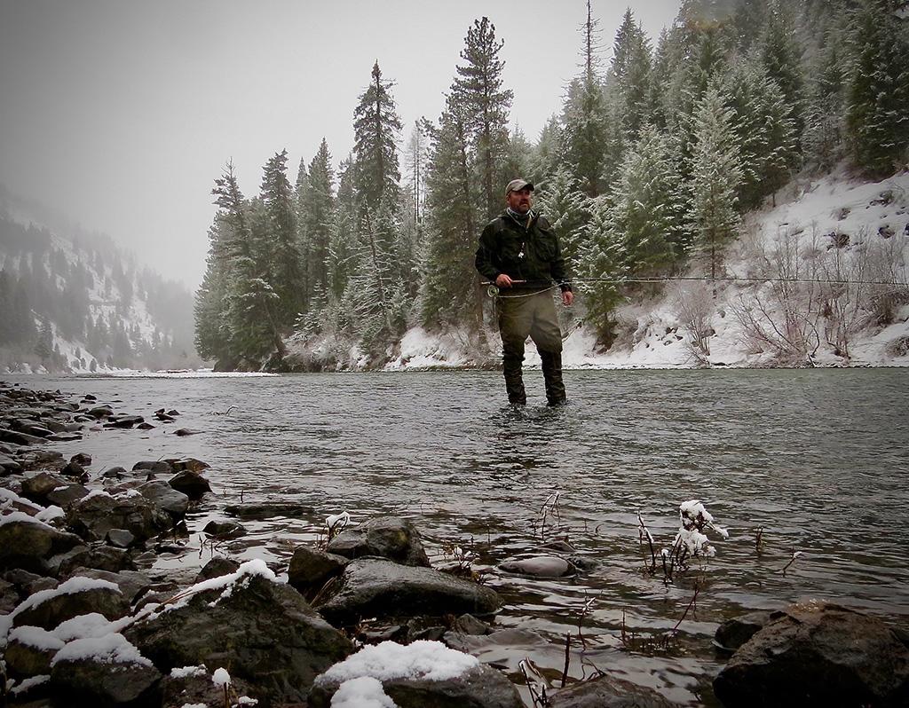winter fishing montana
