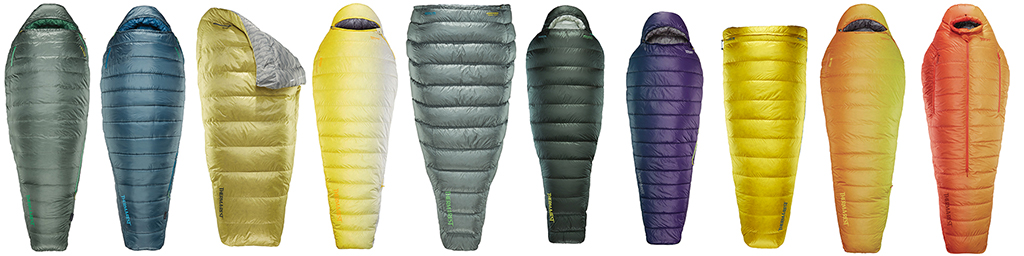 thermarest lineup sleeping bags and quilts 1024