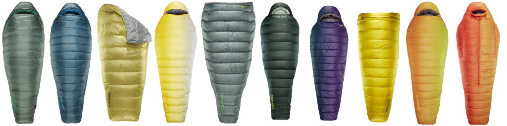 thermarest lineup sleeping bags and quilts