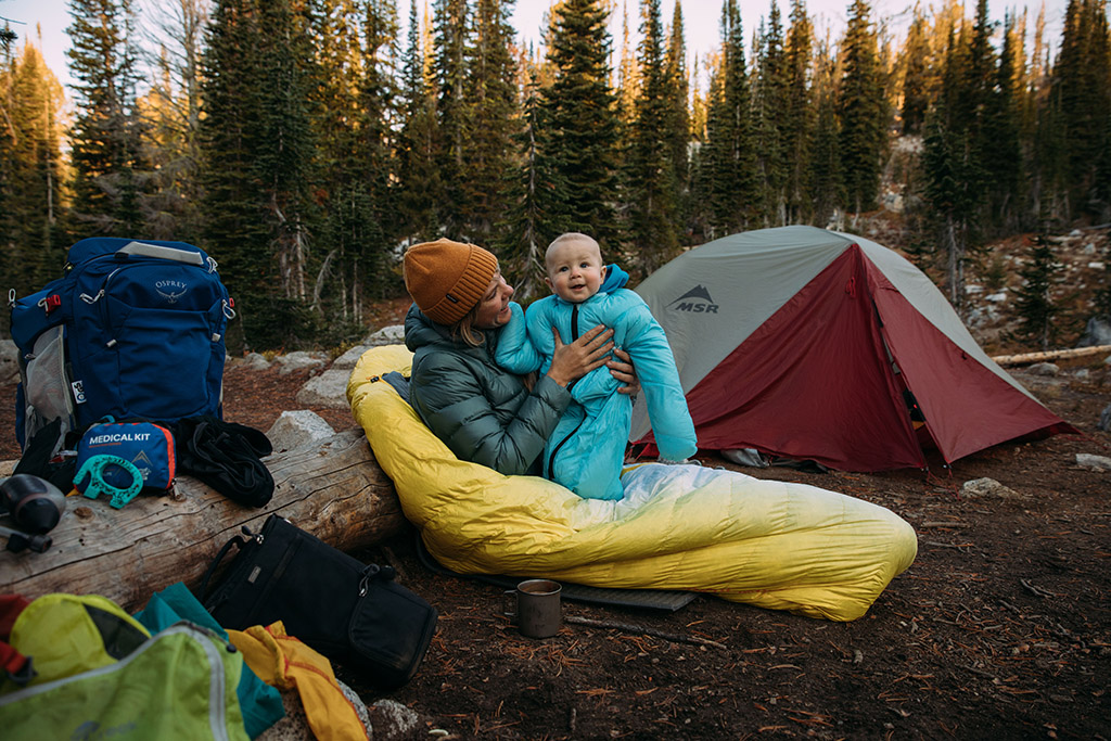 backpacking with baby and tent