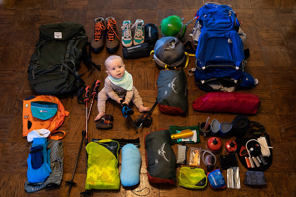 backpacking with a baby gear